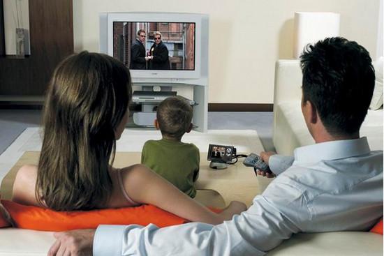 время перед телевизором