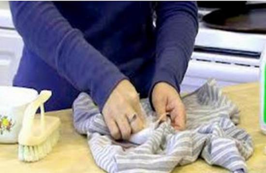 воск парафин, загрязненные участки, натуральные ткани