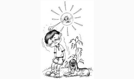 солнечный удар, палящие лучи солнца